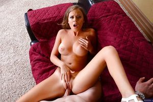 Alexis Adams expands her legs wide to attain that wet shlong innermost