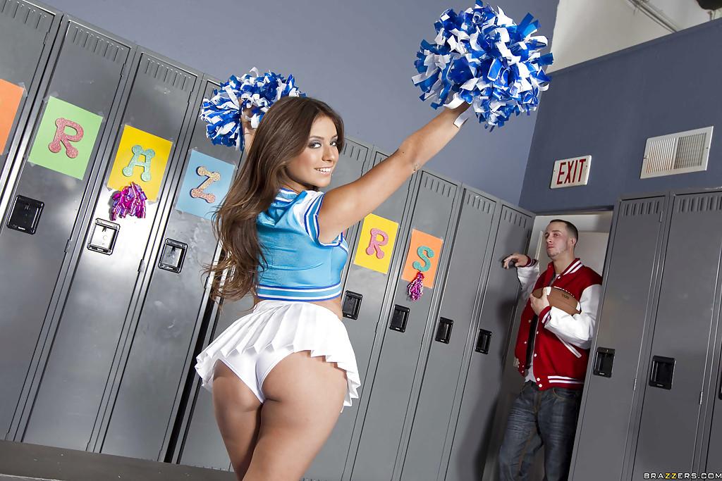 Sexy cheerleader Jynx Maze got her ripe latin booty banged hardcore