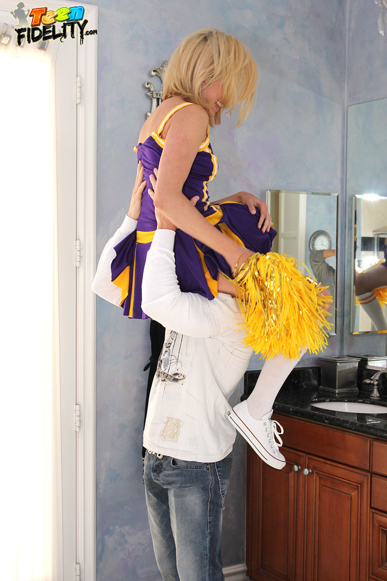 Lia lor getting owned although in her cheerleader uniform