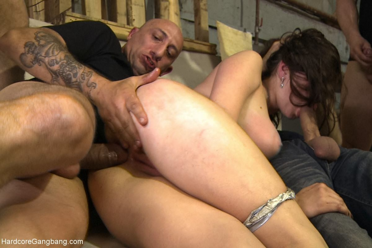 Large titted Fresh year old russian youthful accepts group-fucked for the 1st time