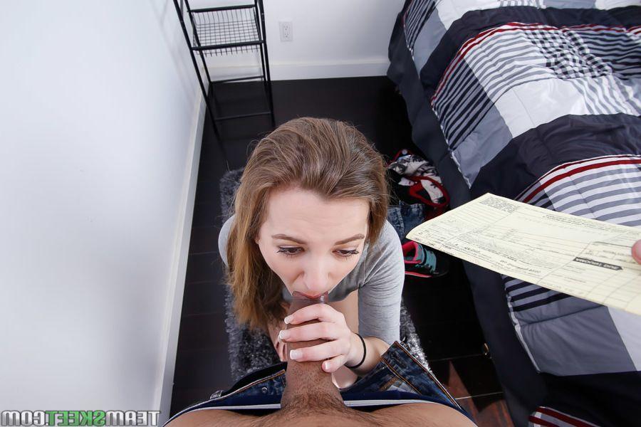 Youthful Latin hottie schoolgirl Marissa Mae giving POV oral-sex sports to ebony cock