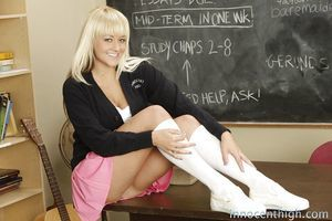 Wazoo gal with tasty boobs Briana Blair playing afterward school