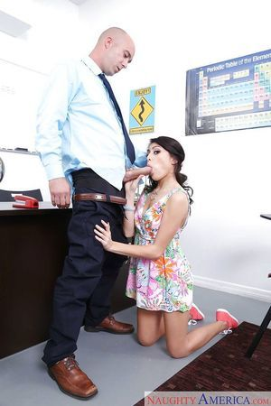 Coed darling Kira Adams takes hardcore smooth on top pussy smoking in office