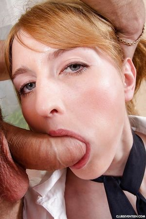 Young schoolgirl Gelya takes  on entered tongue afterwards delivering bj