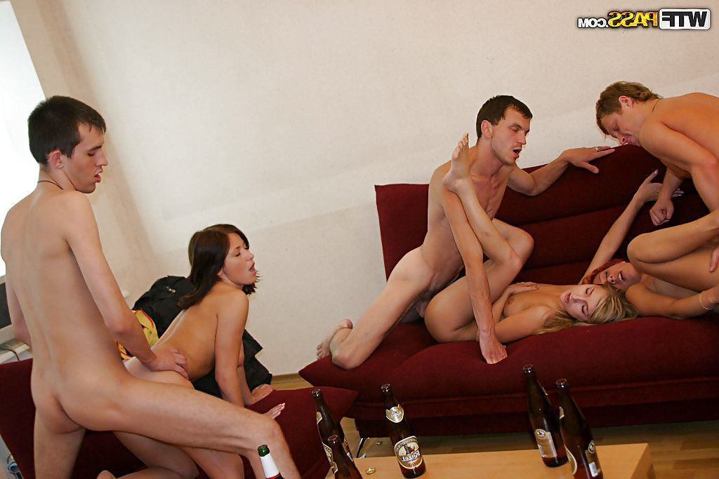 Wang starving infant models play a amazing groupsex get-together