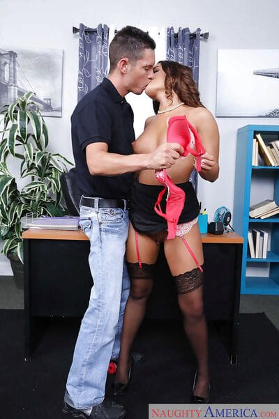 Pornstar Mila Marx giving and receiving cock swallowing slavery in office - part 2