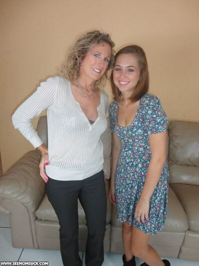 Beautiful youthful cutie Alexis Deen enlists her stepmom to take in off her friend
