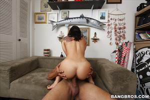 Latin princess hottie Gina Valentina giving want phallus a POV oral play