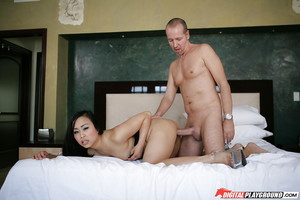 Fabulous Asian angel Bella Ling is pleasuring with her raw partner\'s cock