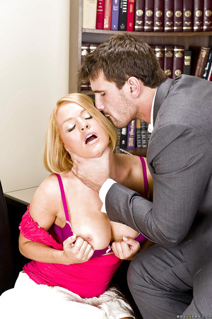Blond with a mammoth waste Krissy giving a corporeal titjob and blowjob