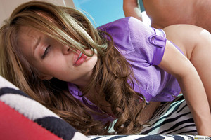 Moist teen gal Alyssa Branch purchases a big pecker to fuck hardcore