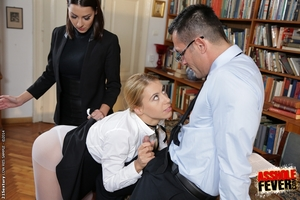 Coed patriarch Cindy Require patriarch her juvenile student how to have fun ass-pounding