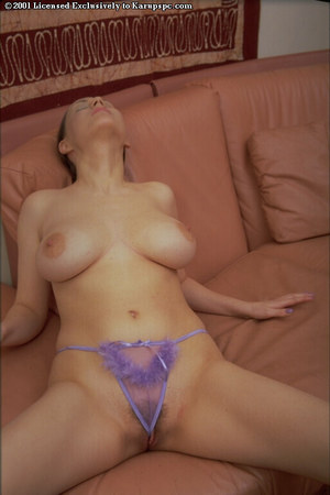 Large milk cans youthful Ania has her pussy shown in sticky violet panties