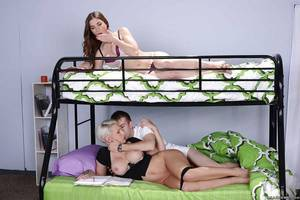 Breasty teen coeds Dylan Phoenix and Molly Jane check this out a threesome