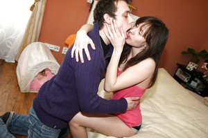 Foxy juvenile doll Leo has intercourse her friend and attains her cunt creampied