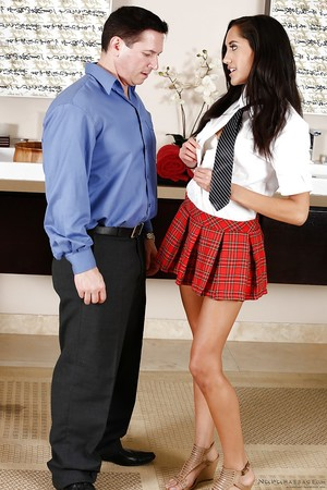 Tiny Latin cutie prostitute Chloe Amour gives up young pussy to teacher