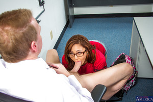 Sexy and smooth dark hair schoolgirl Ariana acquires team-fucked in all her holes
