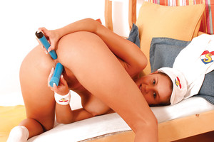 Boobsy young Lucie erotic dancing and plugging her as one holes with toys