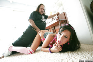 Youthful babe Tanner Mayes purchases her cum-hole licked and slammed by an oldman