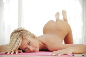 Teen cutie Lola Reve slowly takes off her sporty uniform later on workout