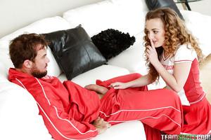 18 year old schoolgirl Marissa Mae licking snake in damp close ups