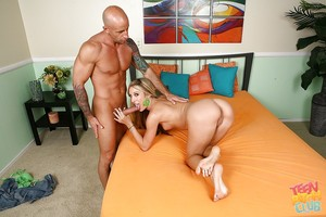 Stream of cum doing scene with juvenile young babe Amy Brooke