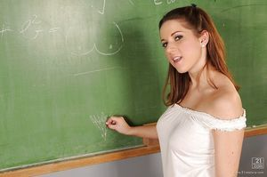 Sticky schoolgirl Nicole Sweet acquires charmed by her woman-on-woman ready teacher