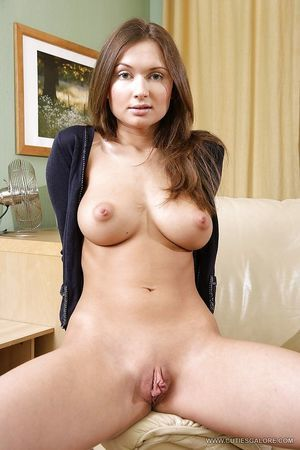 Gorgeous adolescent with tremendous bosoms undressing and toying her firm holes