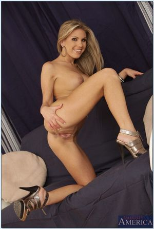 Big titted coed Aubrey Addams showing her good-looking body