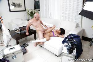 Big-tit Latina young Mia Khalifa gives head like a cock-sucking courtesan