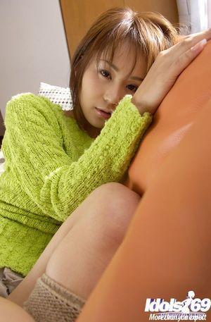 Foxy Japanese lass Takane Hirayama revealing her charming distorts