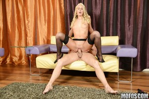 Skinny blond chicito in  obtains fucked and tastes some hot semen