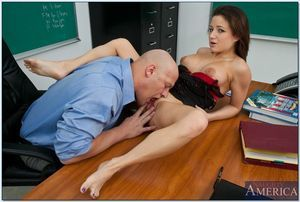 Sticky college patriarch Charity Makes love drilled hardcore on her desk