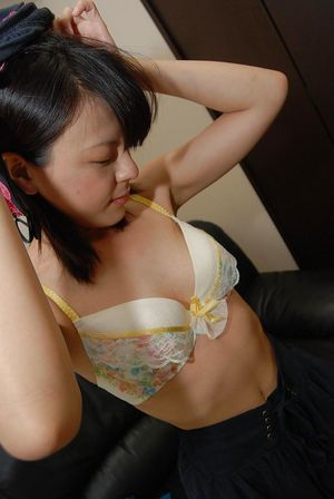 Lively Chinese adolescent Miki Kamisaka not fast erotic dancing off her clothes
