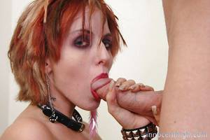 Beautiful and fucking redhead slut Kayla giving a deep damp fellatio
