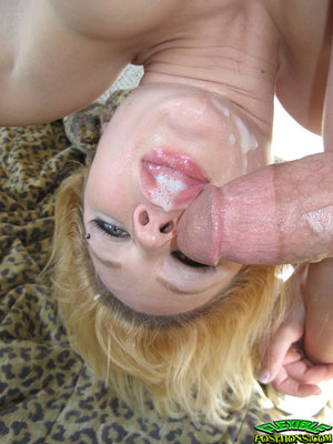 Flexy coed Katarina Kat accepts her pussy licked and drilled by a bald stud