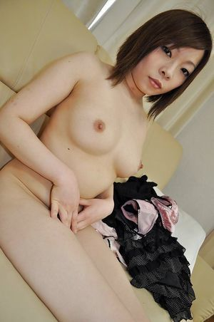 Shy Chinese amateur Chika Matsura undressing and has some vagina vibing having benefit from