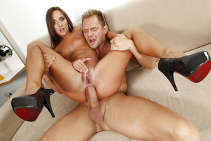 Amirah Adara is enjoying an hardcore wazoo fuck with her stallion in high heels