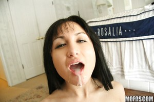 Gabriella Paltrova acquires her mouth crammed with sperm exactly after hardcore twatting
