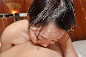 Japanese young Mina Terashima gives a fleshly cocksucking and benefits from nailed