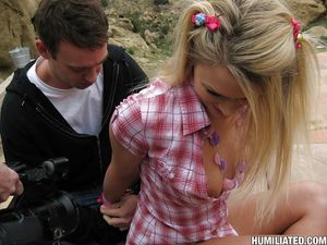 Adolescent doll Heather Starlet getting bound up in servitude and fucked