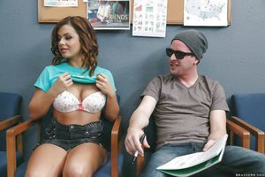 Naughty student Keisha Grey sucking cock and cum in teacher\'s office