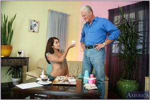 Palatable adolescent with comely juggs Daisy Marie bonked by an oldman