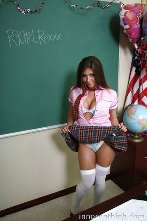 Schoolgirl immense tit brown hair teen Rachel showing her gorgeous body and cage of love