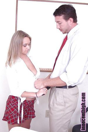 Stupendous fairy-haired infant schoolgirl Carmella giving oral sex in office