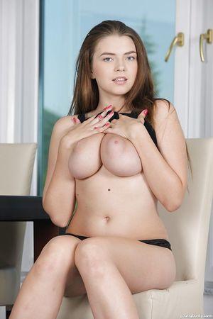 European queen Sheila B unveiling large all natural adolescent pornstar breasts