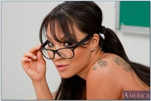 Japanese schoolgirl Asa Akira getting exposed and showing her charming body