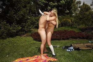 Blonde infant Mia Malkova has her infant gazoo nailed outdoor