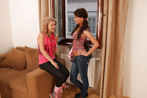 Moist lesbian teenies Bibi & Ariel B have a wonderful time thankful each other