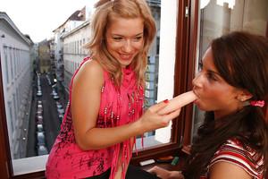 Moist lesbian teenies Bibi & Ariel B have a wonderful time thankful each other
